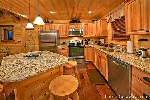 Stainless appliances in the kitchen at Gone to Therapy, a 2-bedroom cabin rental located in Gatlinburg