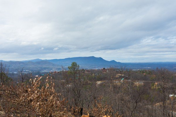 Looking at the Smoky Mountains at Pigeon Forge Panorama, a 2 bedroom cabin rental located in Pigeon Forge
