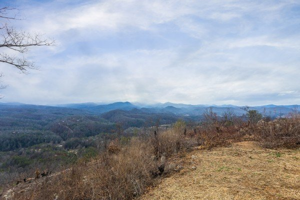 The view from Pigeon Forge Panorama, a 2 bedroom cabin rental located in Pigeon Forge