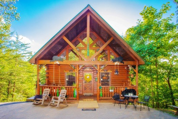 Cabin exterior at Sweet Serenity, a 2 bedroom cabin rental located in Gatlinburg