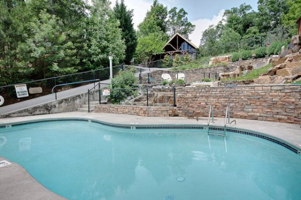 Resort pool access for guests at Paws on the Porch, a 2 bedroom cabin rental located in Gatlinburg