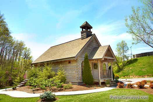 Wedding chapel on the Alpine Mountain Village property for guests of Hidden Hideaway, a 3-bedroom cabin rental located in Pigeon Forge