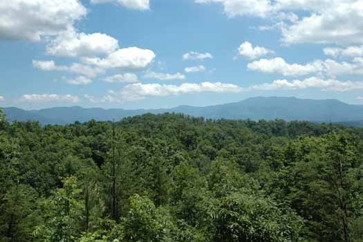 panoramic mountain views from a point of view a 1 bedroom cabin rental located in pigeon forge