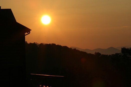 Sunset at Southern Sunrise, a 4 bedroom cabin rental located in Pigeon Forge