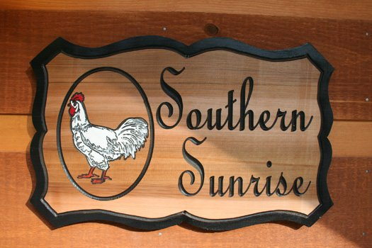 Cabin plaque at Southern Sunrise, a 4 bedroom cabin rental located in Pigeon Forge