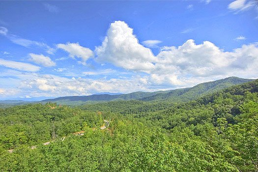 Smoky Mountains view at Southern Sunrise, a 4 bedroom cabin rental located in Pigeon Forge