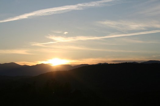 Sunset over the Smokies at Southern Sunrise, a 4 bedroom cabin rental located in Pigeon Forge