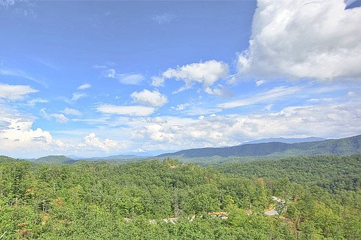 View of the Smoky Mountains at Southern Sunrise, a 4 bedroom cabin rental located in Pigeon Forge