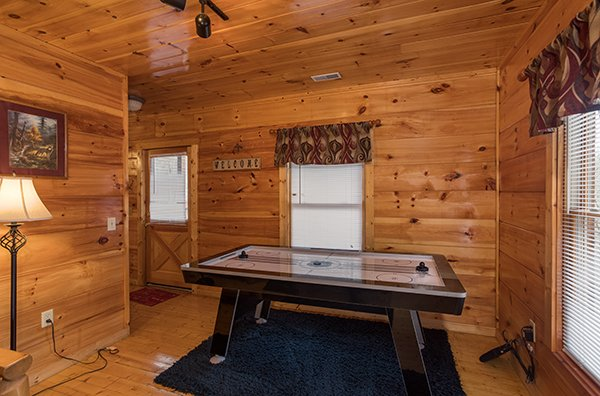 Air hockey table at Just Relax, a 2 bedroom cabin rental located in Pigeon Forge