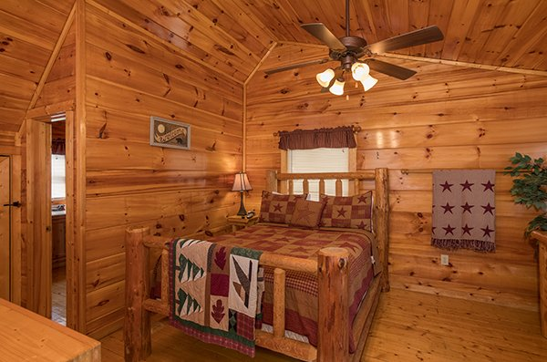 Bedroom in the loft at Just Relax, a 2 bedroom cabin rental located in Pigeon Forge