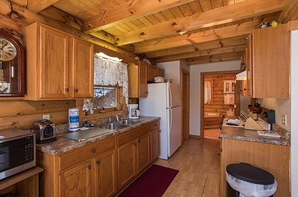 Kitchen at Sierra's Mountain Retreat, a 2 bedroom cabin rental located in Pigeon Forge