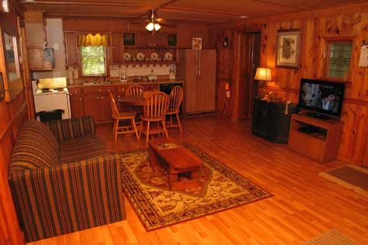 Living room at Heavenly Hideaway, a 2-bedroom cabin rental located in Gatlinburg