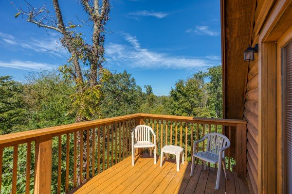 Deck at Skyline Retreat, a 2 bedroom cabin rental located in Sevierville