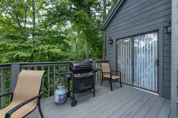 Propane grill on the deck at One Blessed Nest, a 3 bedroom cabin rental located in Pigeon Forge