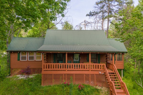 Exterior at Mountain Breeze, a 1 bedroom cabin rental located in Pigeon Forge