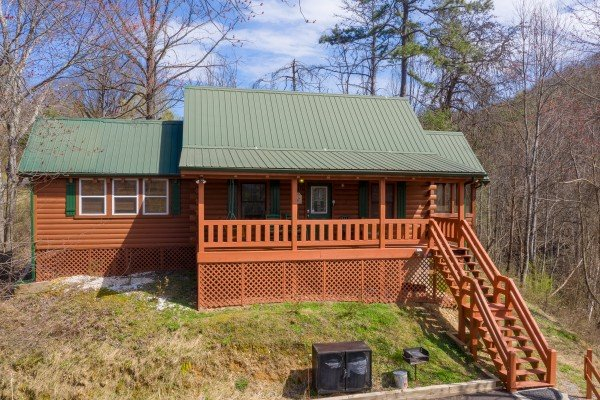 Front exterior at Mountain Breeze, a 1 bedroom cabin rental located in Pigeon Forge