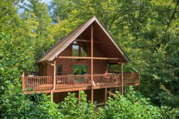 Hidden Ecstasy, a 1-bedroom cabin rental located in Pigeon Forge