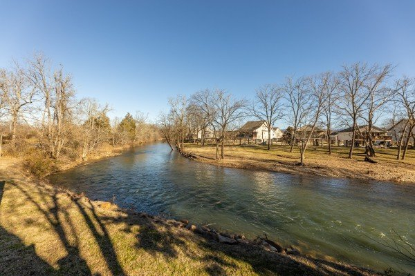 River view at Gone Fishin', a 2-bedroom cabin rental located in Pigeon Forge