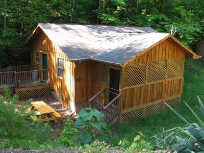 single story log home called dream catcher a 1 bedroom cabin rental located in pigeon forge