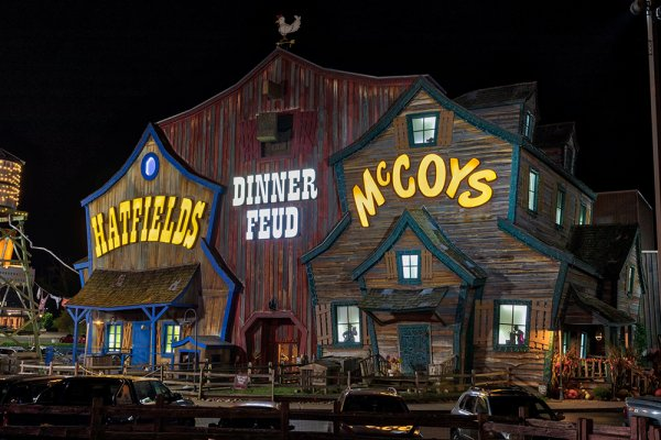 Hatfield & McCoy Dinner Show is near Cold Creek Camp, a 3 bedroom cabin rental located in Pigeon Forge