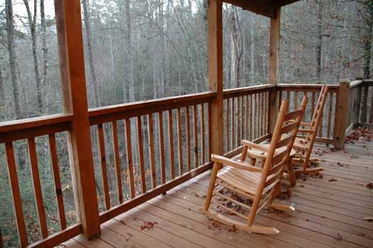 view from deck at a great escape a 1 bedroom cabin rental located in pigeon forge