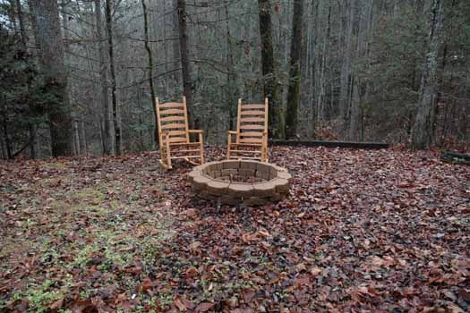 outdoor firepit at a great escape a 1 bedroom cabin rental located in pigeon forge