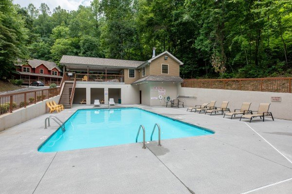 Brookstone Village pool for guests at Amazing Memories, a 3 bedroom cabin rental located in Pigeon Forge