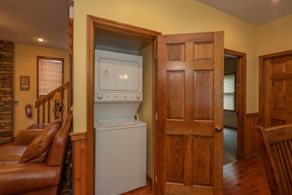 Laundry closet at Amazing Memories, a 3 bedroom cabin rental located in Pigeon Forge
