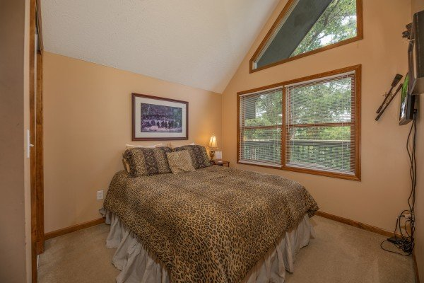 Loft bedroom at Amazing Memories, a 3 bedroom cabin rental located in Pigeon Forge