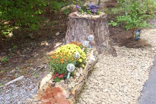 Flowers at Mountain Manor, a 1 bedroom cabin rental located in Gatlinburg