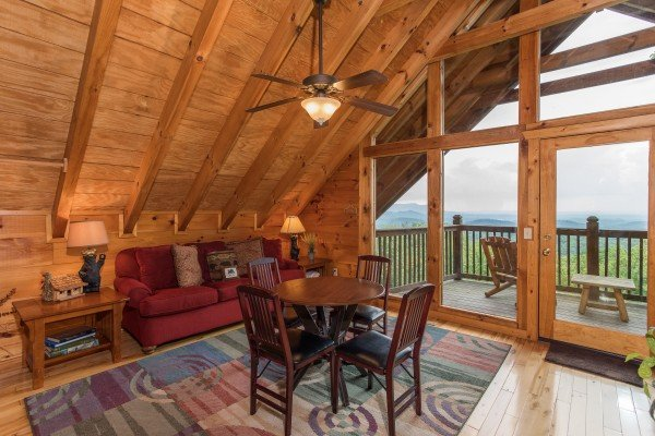 Loft space at Serenity Heights, a 3 bedroom cabin rental located in Pigeon Forge