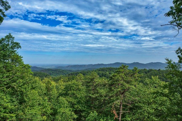 View from the deck at On Angels Wings, a 5 bedroom cabin rental located in Gatlinburg