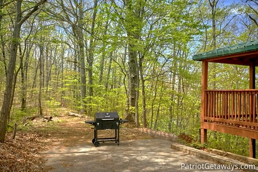 Outdoor grill at On Angels Wings, a 5 bedroom cabin rental located in Gatlinburg
