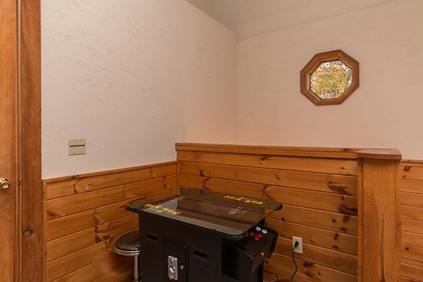 Table top multi game arcade system at Just for Fun, a 4 bedroom cabin rental located in Pigeon Forge