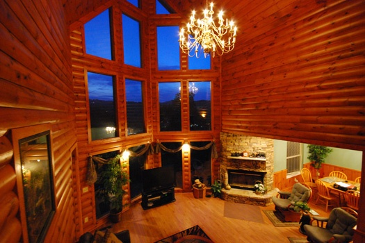 gatlinburg in bedroom cabin at located cabins view living a mountains of area mist mountain rental overhead smoky smokey