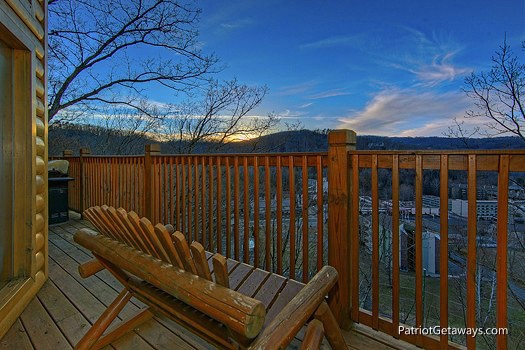 view from main level deck at smoky mountain lodge a 7 bedroom cabin rental located in gatlinburg