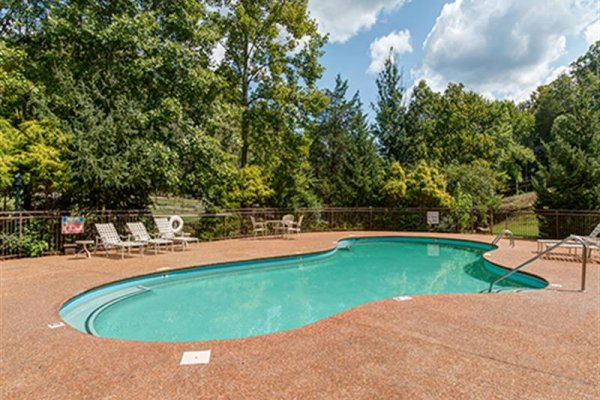 Resort pool access for guests at Wagon Wheel Cabin, a 3 bedroom cabin rental located in Pigeon Forge