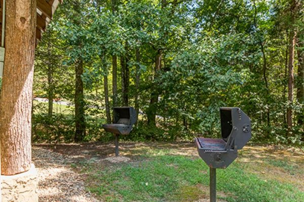 Grills available for guests at Wagon Wheel Cabin, a 3 bedroom cabin rental located in Pigeon Forge
