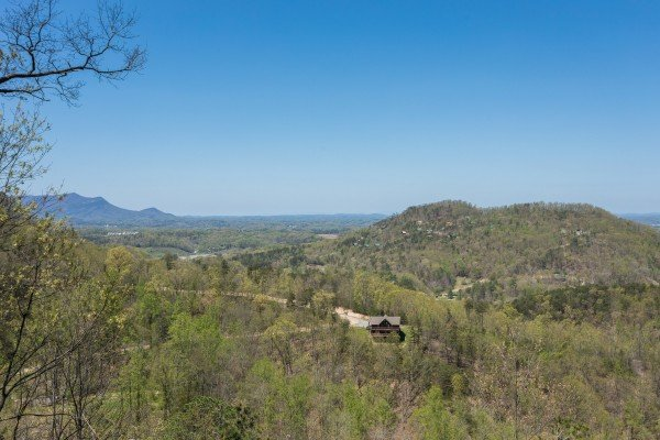 Breathtaking mountain views at Cozy Mountain View, a 1-bedroom cabin rental located in Pigeon Forge