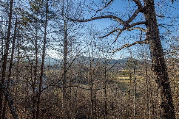 Winter view at Pampered Campers, a 3 bedroom cabin rental in Pigeon Forge