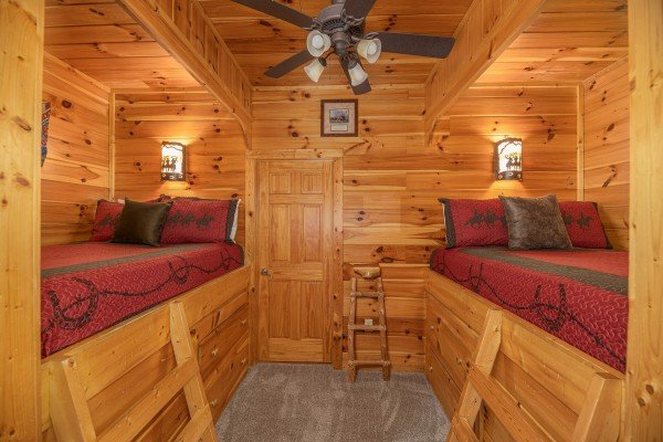Bunk space at Lookout Lodge, a 5 bedroom cabin rental located in Pigeon Forge