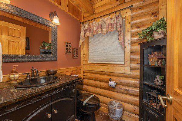 Bathroom at Lookout Lodge, a 5 bedroom cabin rental located in Pigeon Forge