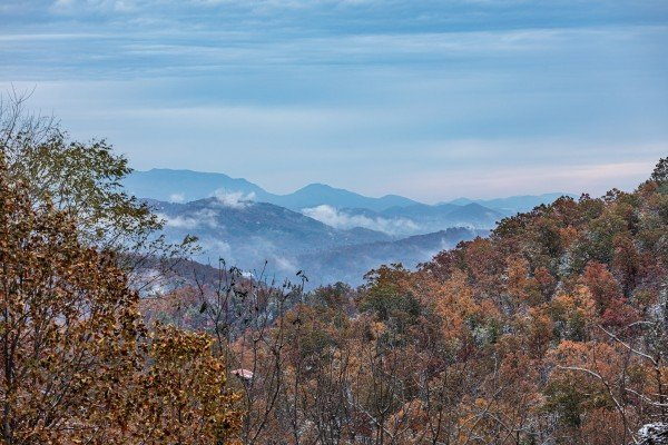 View of the mountains at Lookout Lodge, a 5 bedroom cabin rental located in Pigeon Forge