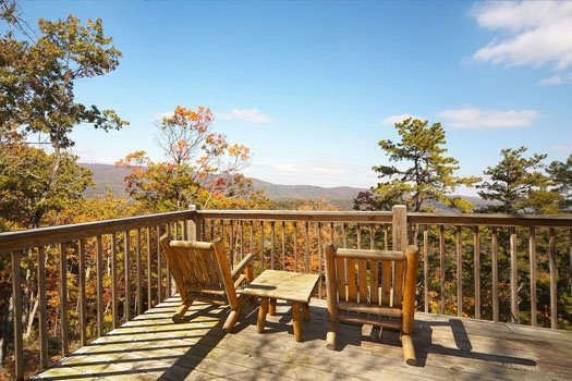 smokey mountain views from hooked on cowboys a 2 bedroom cabin rental located in pigeon forge
