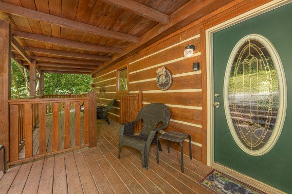 Entrance at Bootlegger Hill Hideaway, a 2 bedroom cabin rental located in Pigeon Forge