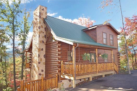Front exterior view at Summit View, a 3 bedroom cabin rental located in Gatlinburg