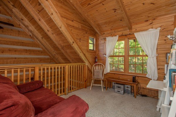 Loft space at Trillium Lodge, a 4 bedroom cabin rental located in Gatlinburg
