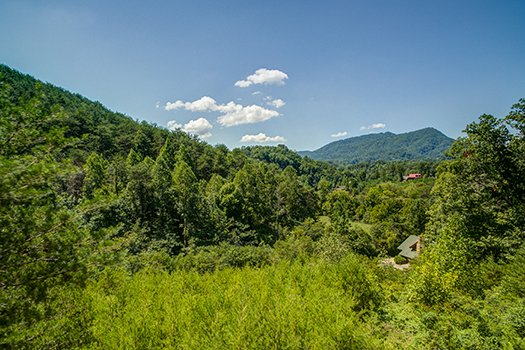 Mountain view from at Lazy Bear Lodge, a 2 bedroom cabin rental located in Pigeon Forge