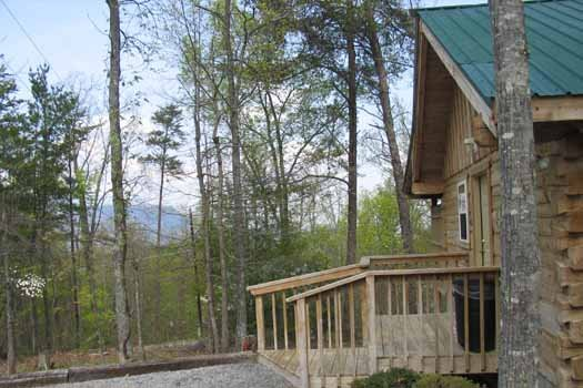 Nestled in the woods is All Shook Up, a 1 bedroom cabin rental located in Pigeon Forge