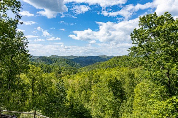 View from the deck at Heavenly Homestead, a 4 bedroom cabin rental located in Pigeon Forge